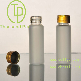 TP-4-05 25ml 透明蒙砂玻璃瓶 防爆口 带防盗铝盖 适合装保健品 药品等