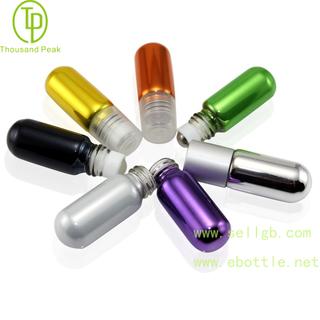 TP-3-26 2ml-4ml 金属电镀玻璃滚珠瓶 可以装香水 精油瓶等