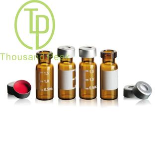 TP-1-20 1.5/2ml进样瓶棕色液相色谱玻璃样品瓶 取样瓶顶空瓶 进样瓶整套100套