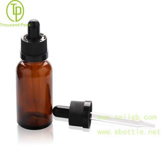 TP-2-72 茶色精油瓶儿童安全玻璃滴管